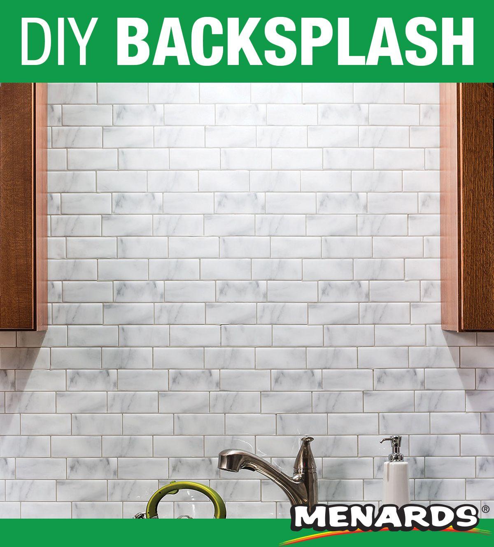 Tack Tile™ Peel & Stick Vinyl Backsplash Tiles are an easy