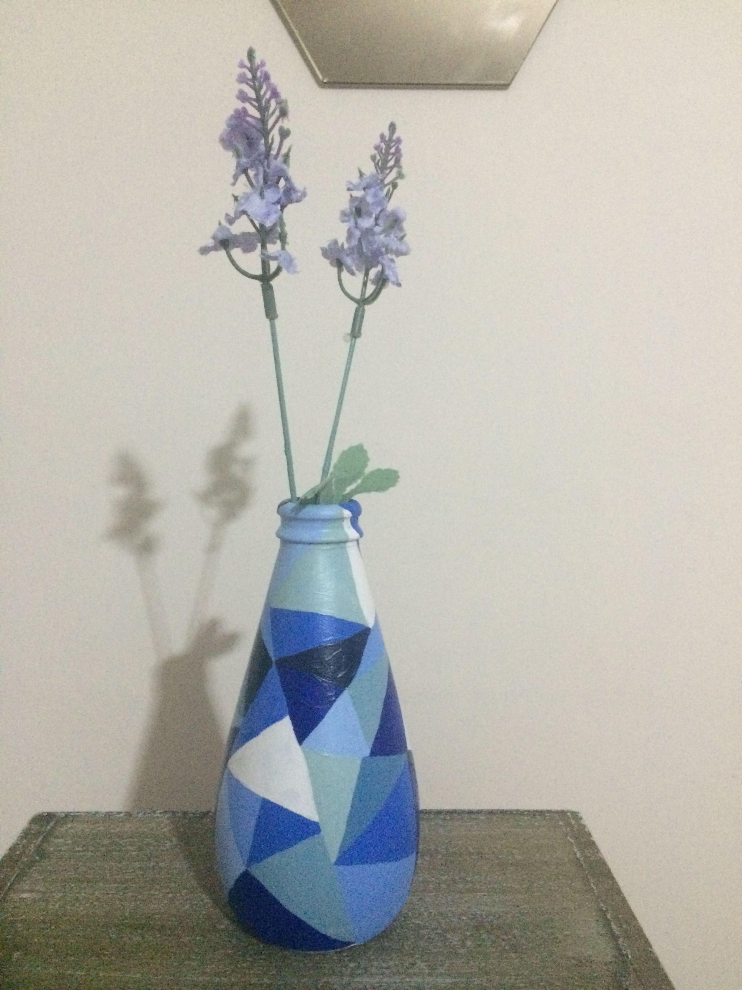 Vazo Sise Boyama Art Artcraft Avsar Soda Sisesi Glass Painting Vazolar Painting Sise