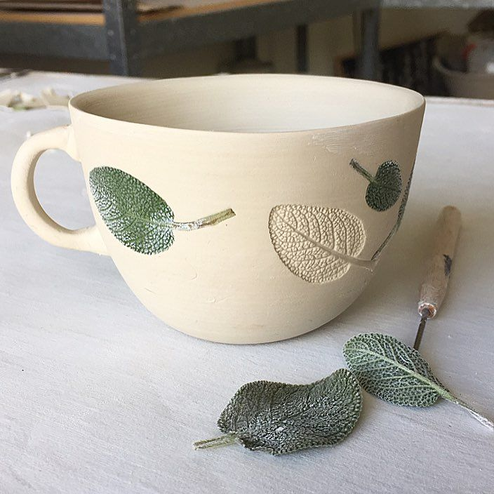 "Helen Hay on Instagram: ""Sage teacups going onto the slow-dry shelf� I'll be bringing them to the #etsymadelocalbluemnts at the Norman Lindsay gallery on the 25th…"""