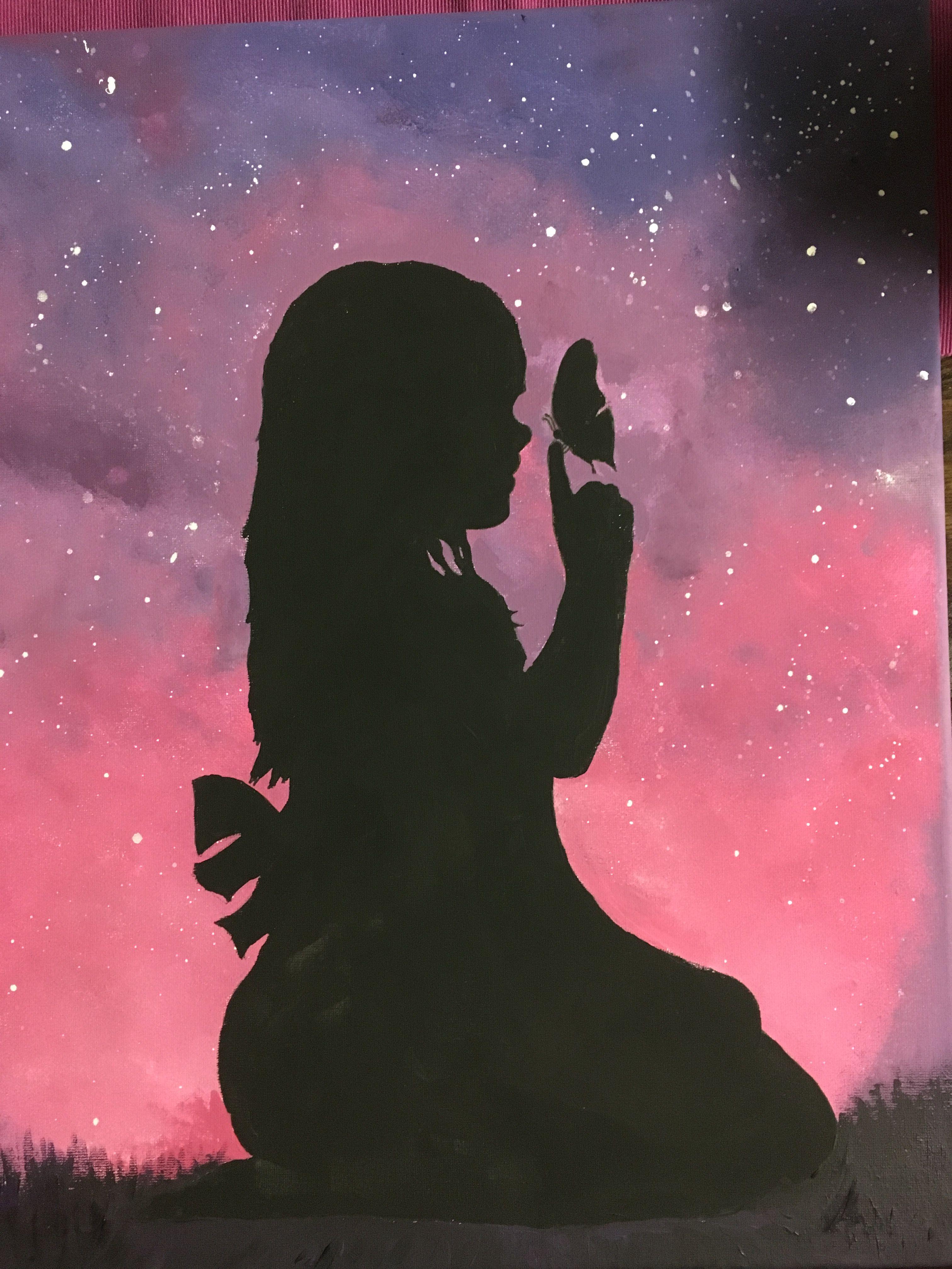 Картинки силуэта девушки на аву