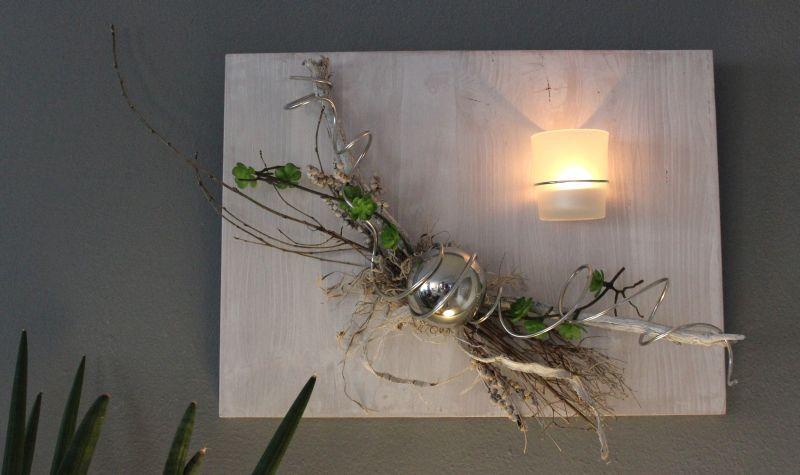 wd93 au ergew hnliche wanddeko holzbrett bebeizt und wei geb rstet dekoriert mit. Black Bedroom Furniture Sets. Home Design Ideas