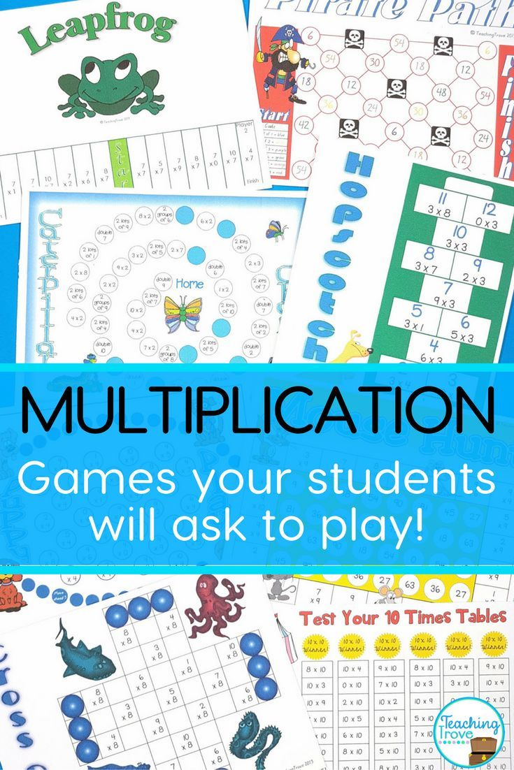 Multiplication Games for each Multiplication Fact | Times tables ...