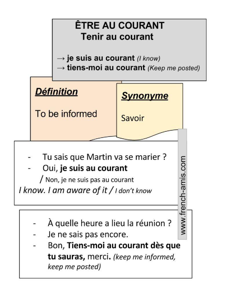 Merci De Me Tenir Au Courant : merci, tenir, courant, Expressions, Être, Courant, Tenir, FRENCH, School, French,, Teaching