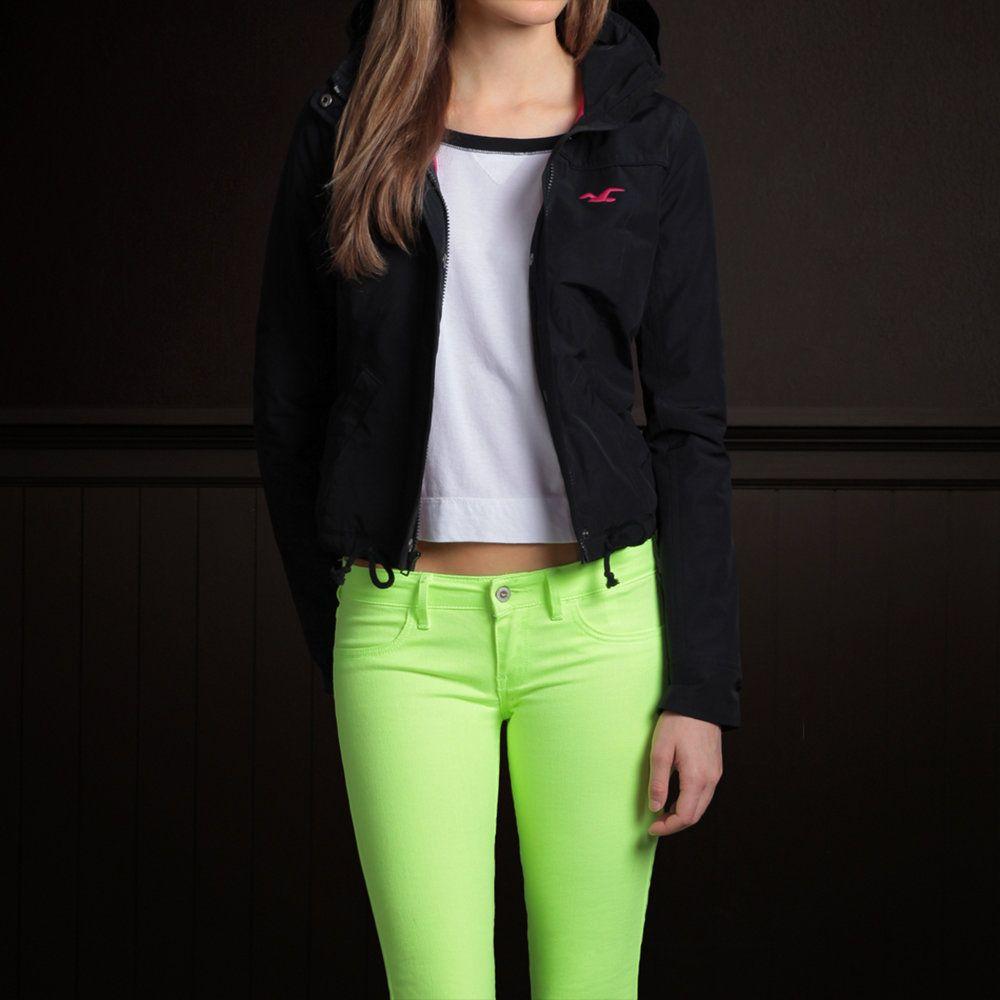Bettys Costa Mesa Jacket Bettys Outerwear Hollisterco Com Neon Skinny Jeans Hollister Looks Fashion [ 1000 x 1000 Pixel ]