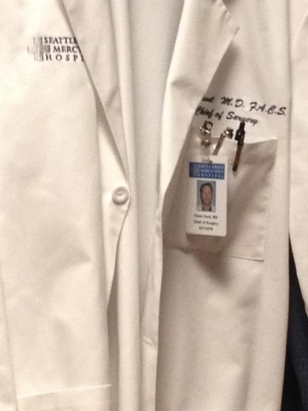 Dr. Hunt's jacket/ID (Aidan's twitter)
