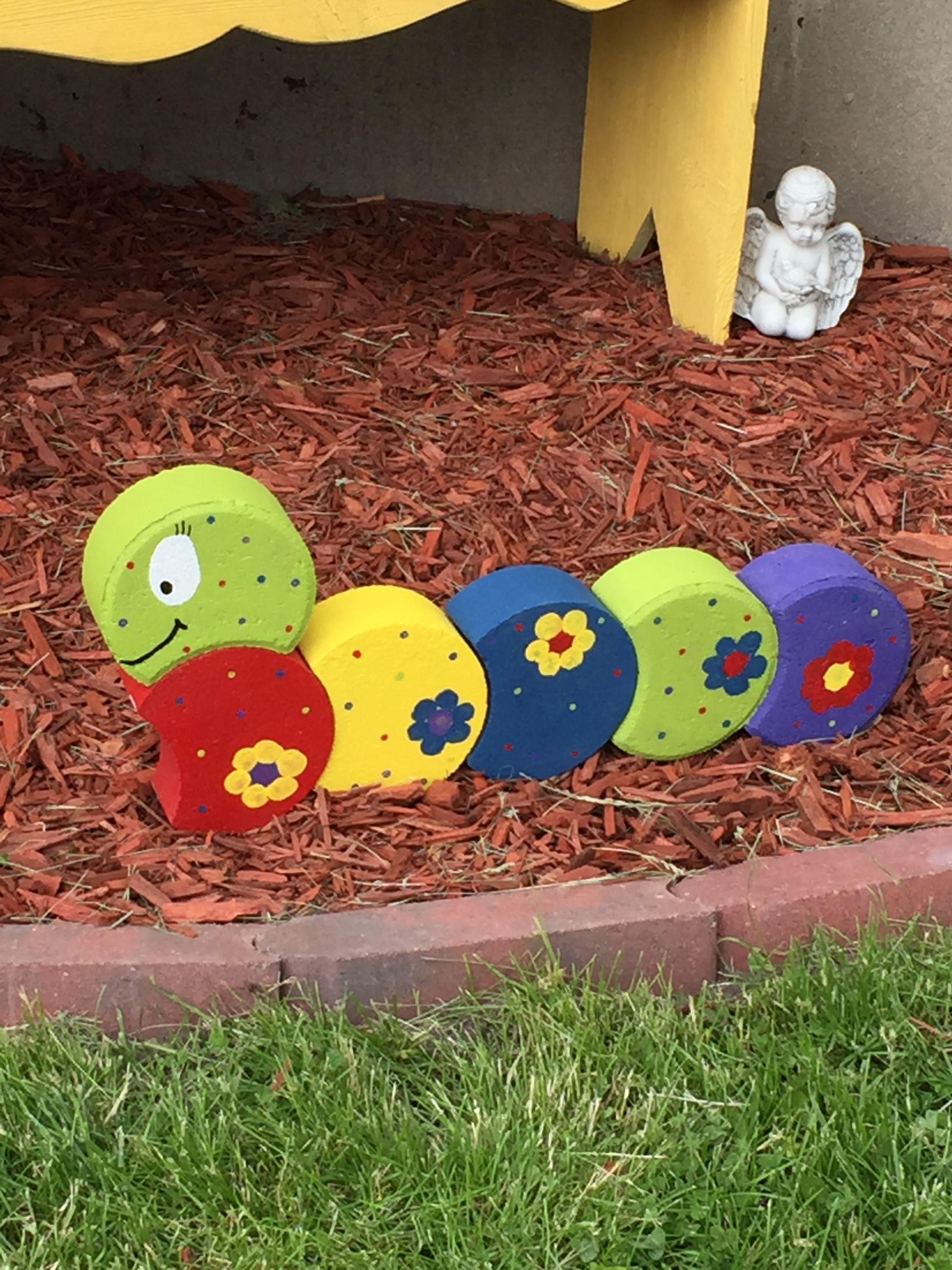 Paver Caterpillar Brick Crafts Painted Bricks Crafts