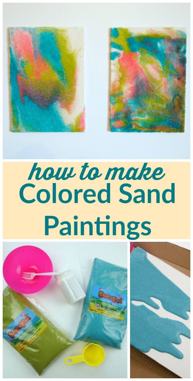 Use Colored Sand To Make Gorgeous Colored Sand Paintings This Is A Great Kids Craft Too Get The Full Pr Sand Art Crafts Diy Colored Sand Sand Art Projects