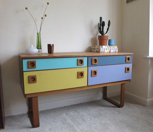 Vintage Schreiber 60's 70's Retro Mod Bentwood Sideboard, Cabinet. Can Deliver