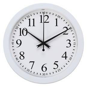 Wall Clock 8 Inch White Round 5 Target Wall Clock Clock Round Wall Clocks