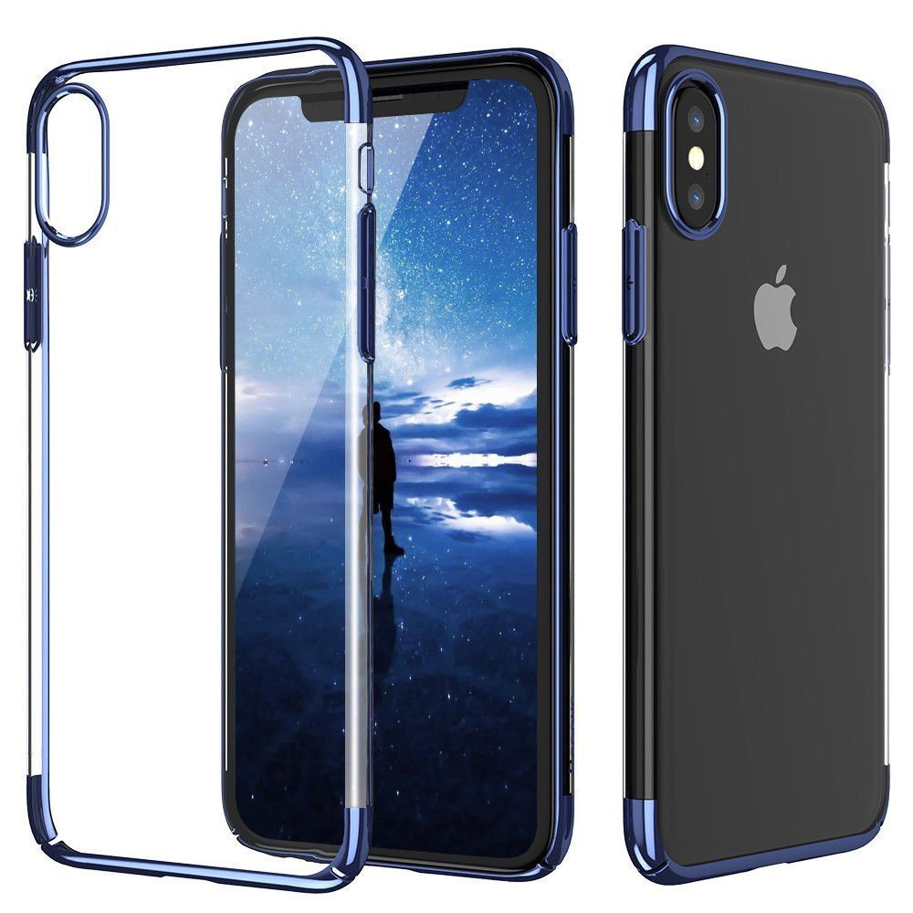 quality design 41268 019e2 For iPhone X Case, ZHFLY Ultra Thin Transparent Protective Cover ...
