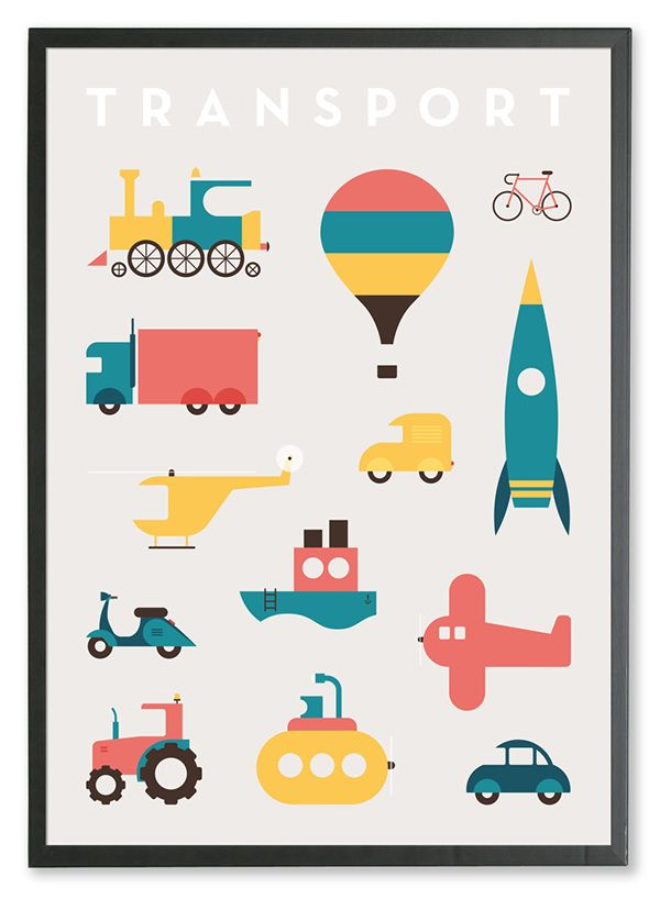 Transport Posters On Behance 縫い仕事 ピクトグラム デザイン