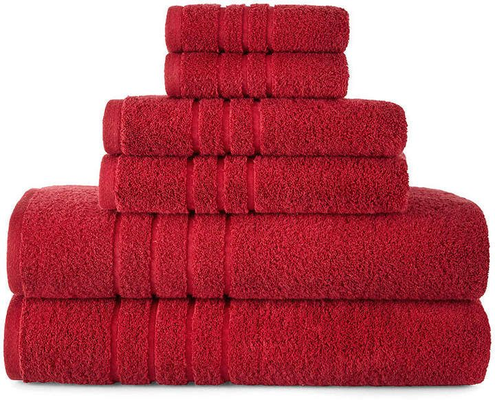 Jcp Home Jcpenney Hometm Made In Usa Supima Cotton 6 Pc Bath