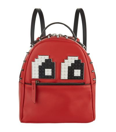 LES PETITS JOUEURS Micro Mick Eyes Backpack. #lespetitsjoueurs #bags #leather #backpacks #
