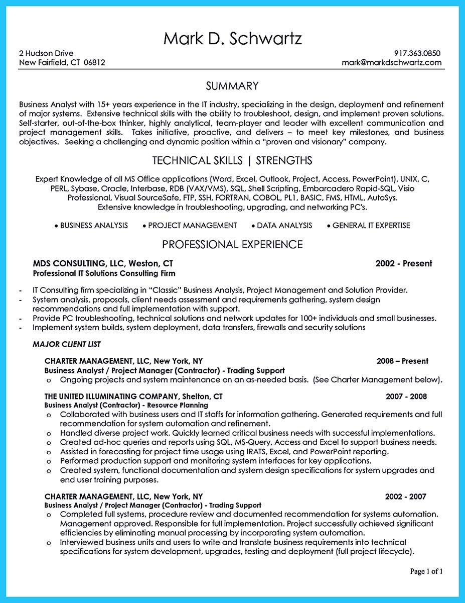 Business Intelligence Analyst Resume Simple Awesome Create Your Astonishing Business Analyst Resume And Gain The