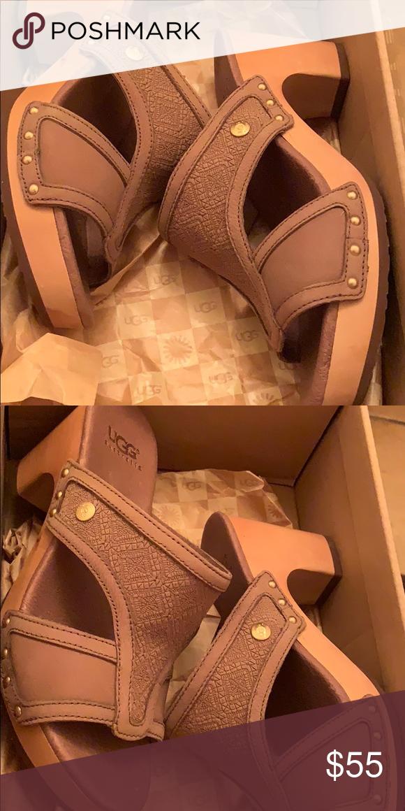 f315d84d0859 UGG ISSA MOSAIC LEATHER MULE CLOG SANDALS US 5 NEW  120 UGG ISSA MOSAIC  LEATHER MULE SLIP ON CLOG SANDALS US 5 UGG Shoes