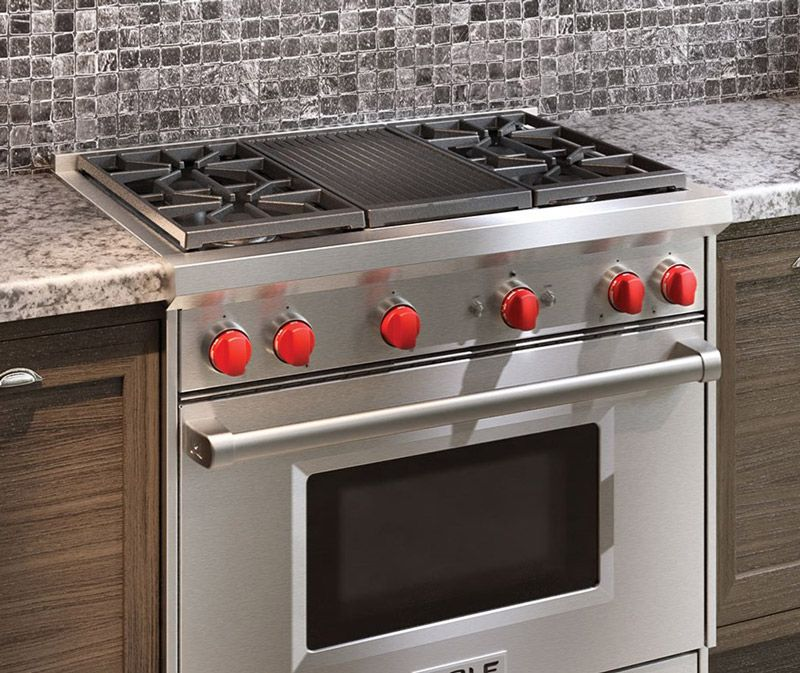 Wolf 36 Gas Range >> Wolf 36 Stainless Steel Gas Range With Infrared Griddle