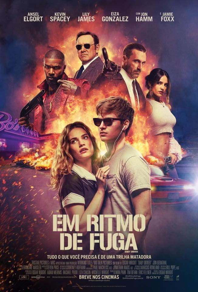 Poster De Em Ritmo De Fuga Estrelado Por Ansel Elgort Kevin Spacey E Jaime Foxx Baby Driver Trailer Baby Driver Baby Driver Full Movie