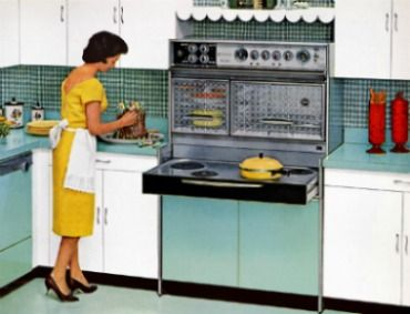 My grandma had one like this Fridgidaire Flair. No, maybe hers was a Tappan Fabulous 400.