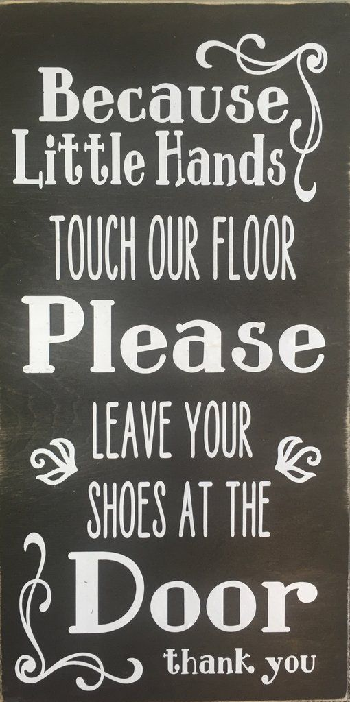 Please Remove Shoes Wood Sign Handmade Home Decor