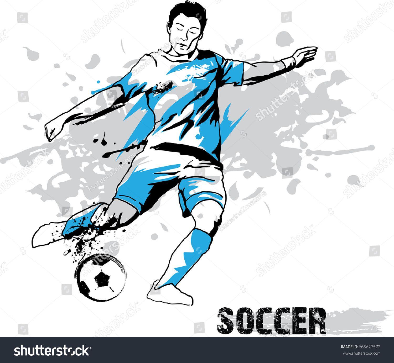 Soccer Player Kicking Ball Vector Illustration Sponsored Sponsored Kicking Player Soccer Illustration Vector Illustration Illustration Soccer Players