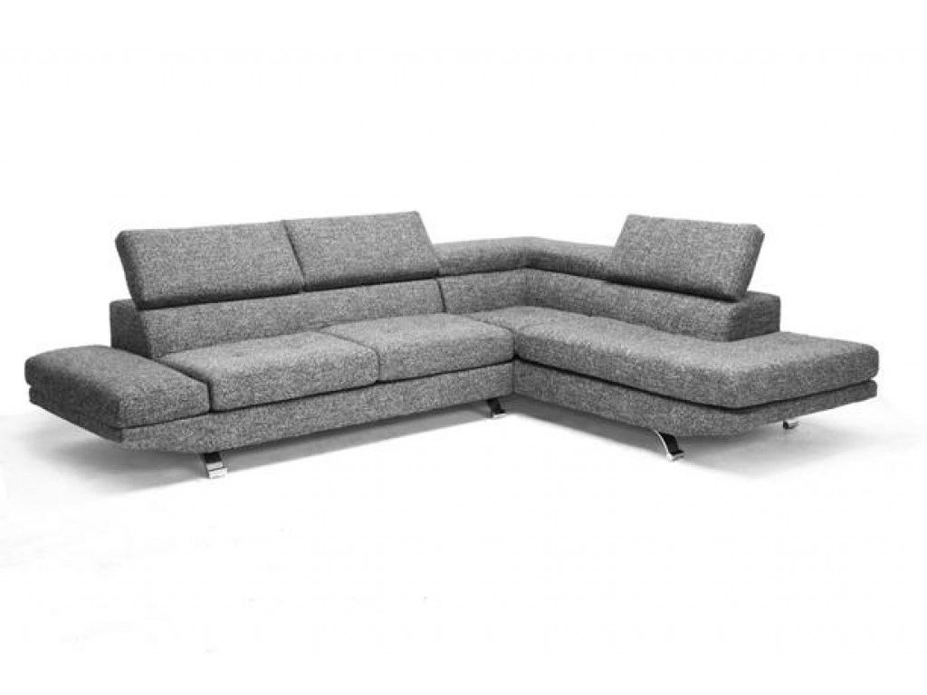 Adelaide Gray Twill Fabric Modern Sectional Sofa By Baxton Studios 2000 Modern Sectional Modern Sofa Sectional Fabric Sectional Sofas