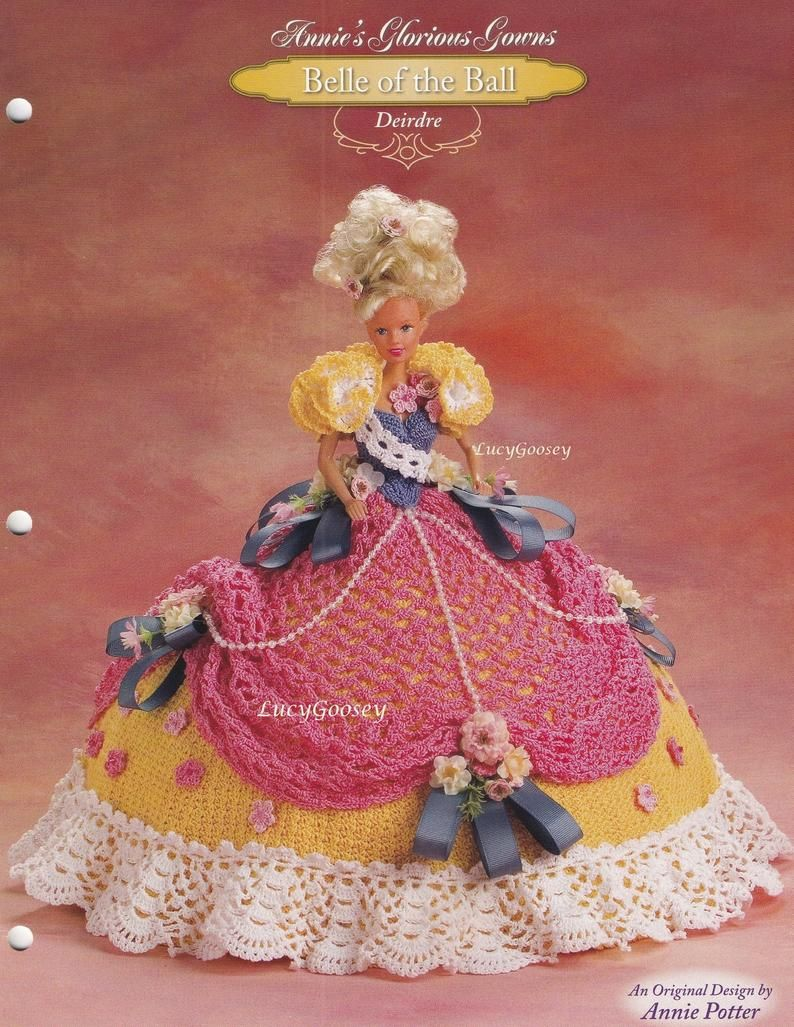 """Crochet Bed doll pattern /""""2003 May Flowers/"""" Annie Potter PDF Download"""