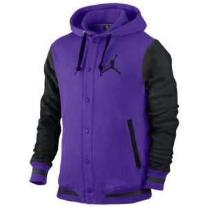 adc58dad7e5 Jordan Varsity Hoodie - Men s - Basketball - Clothing - Court Purple  Black Black