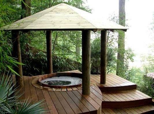 Jacuzzi In Tuin : Jacuzzi© in de tuin ik woon fijn . jacuzzme . hot tub gazebo