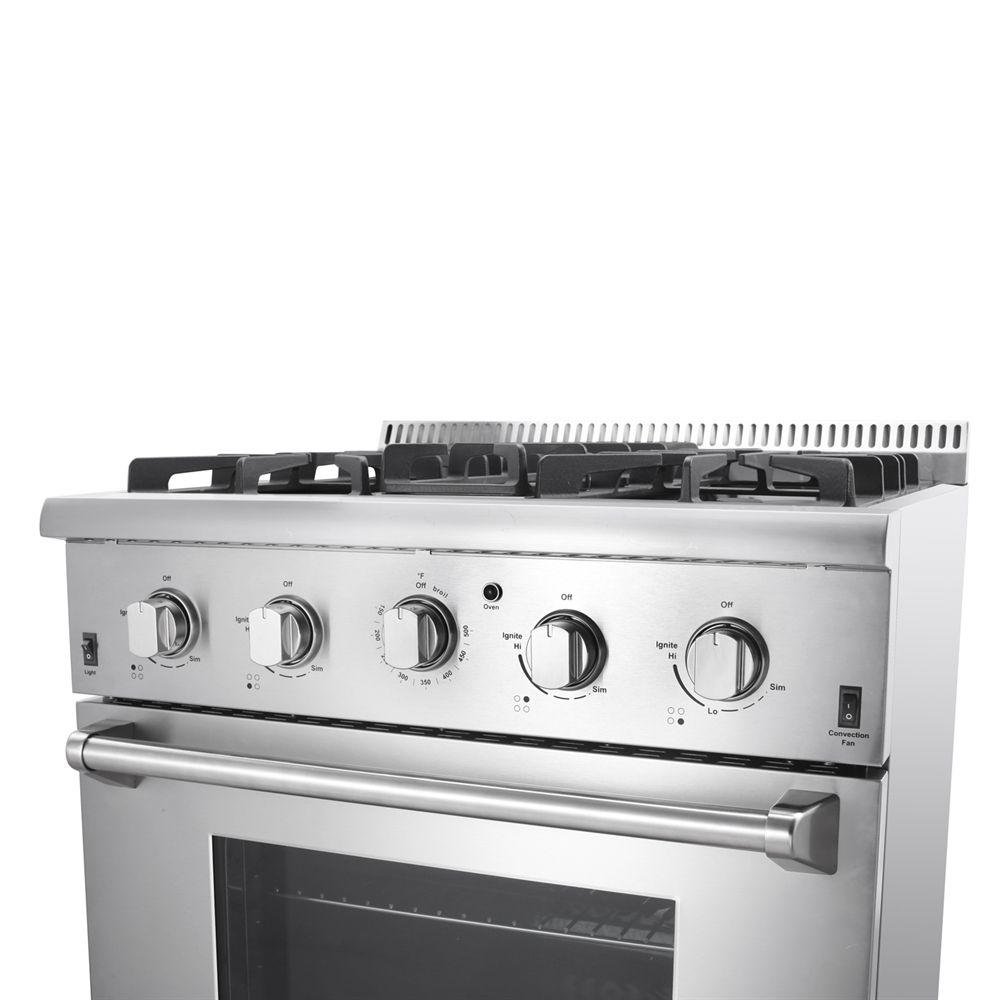 Shop Thor Kitchen HRG3080U 30-in Professional Stainless Steel Gas ...