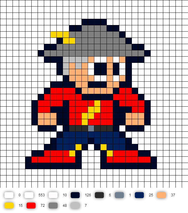 Jay Garrick Flash DC Perler Bead Pattern