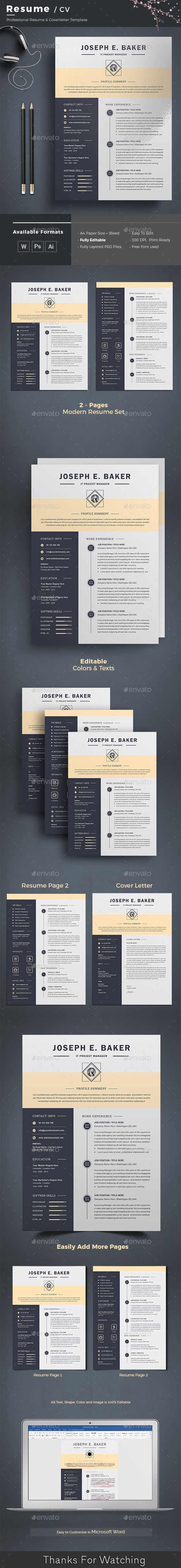 Clean Resume Cv Template Features Of Resume Template