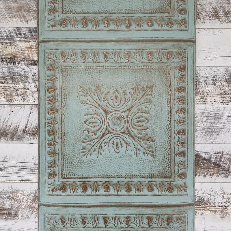 Best Ornamental Turquoise Rustic Tin Tile Wallpaper In 2019 640 x 480
