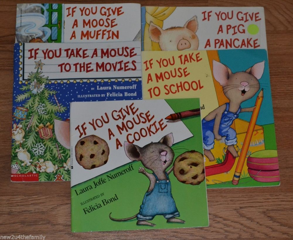 Laura Numeroff Childrens Literature If You Give Mouse A Cookie LOT 5 Books