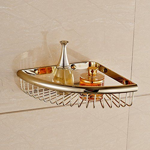 Bathroom Angle Corner Storage Wire Shower Basket Wall Mount Tub and ...