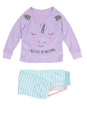 350964ff5ac6 Unicorn Face Print Stay Soft Pyjamas (1-8 Years)