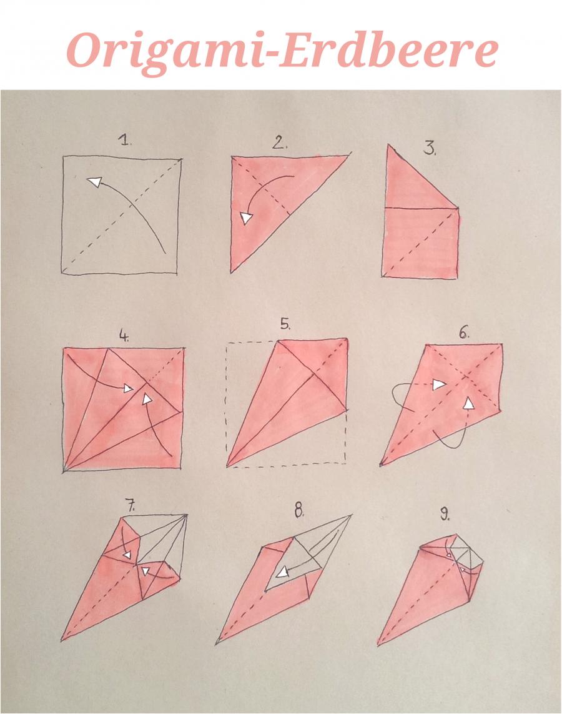 Gefaltet & Erleuchtet: Tischdeko und Lichterkette mit Origami-Erdbeeren | SoLebIch.de