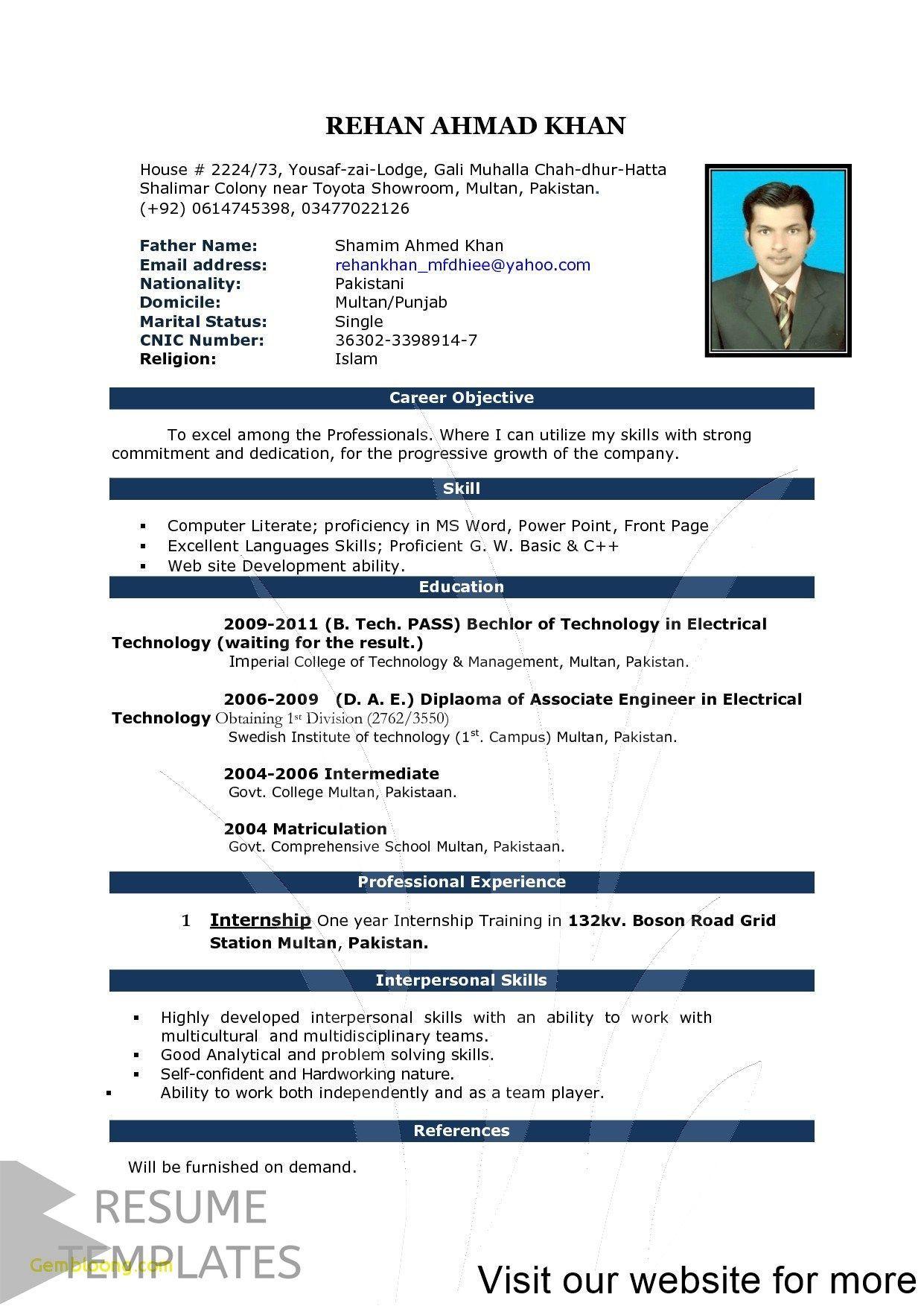 Resume Template Free Resume Template Professional Resume Examples Simple Resume Job Resume Template Free Resume Template Word Microsoft Word Resume Template Internship resume template microsoft word