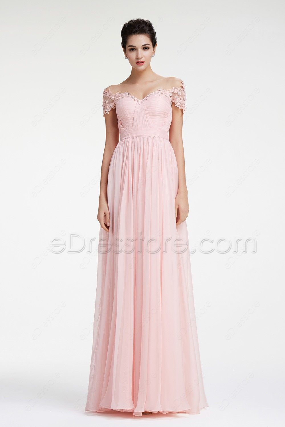 Soft Pink Off The Shoulder Prom Dresses Clothes Shoes