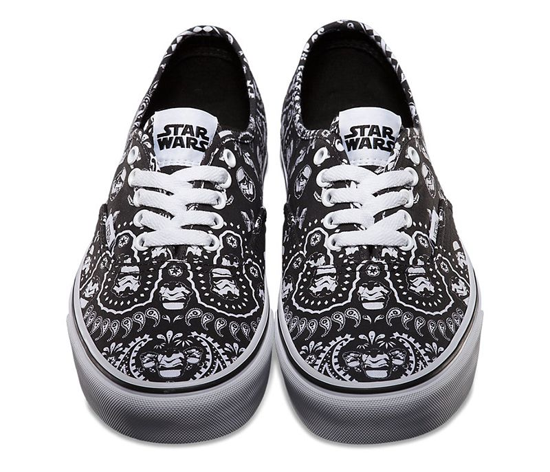 b3c2fbf459c27e star wars vans. paisley. black and white. design. pattern. bandana ...