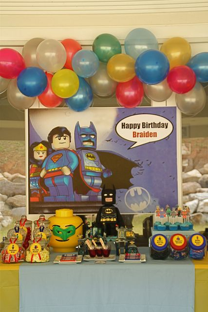 Lego SuperHero Party Birthday Party Ideas | Superhero party ...