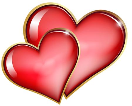 Double Hearts Pintura de corazón, Corazones fondos de