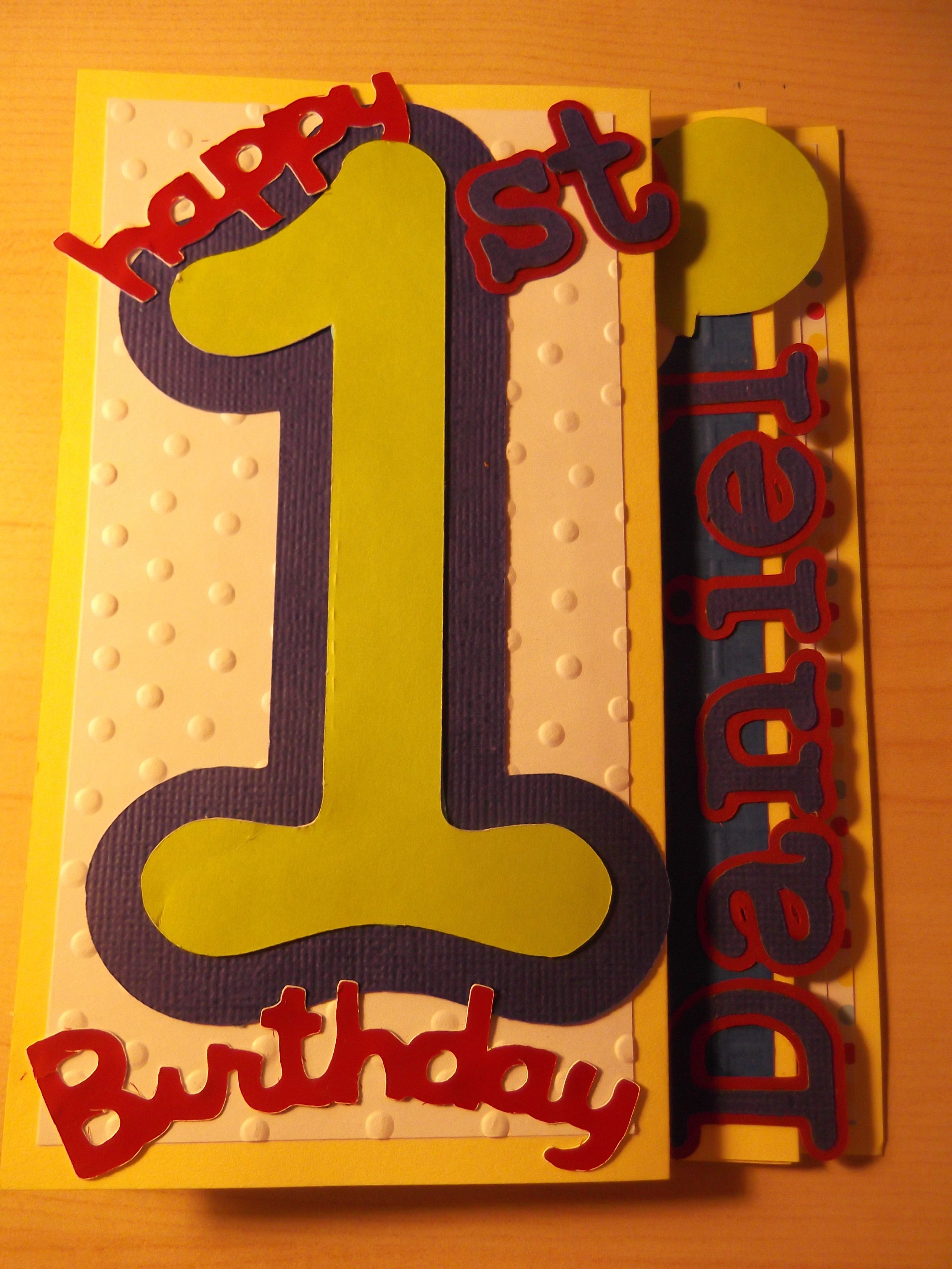 1st birthday card i made for my cousin Daniel. with ... - photo#3
