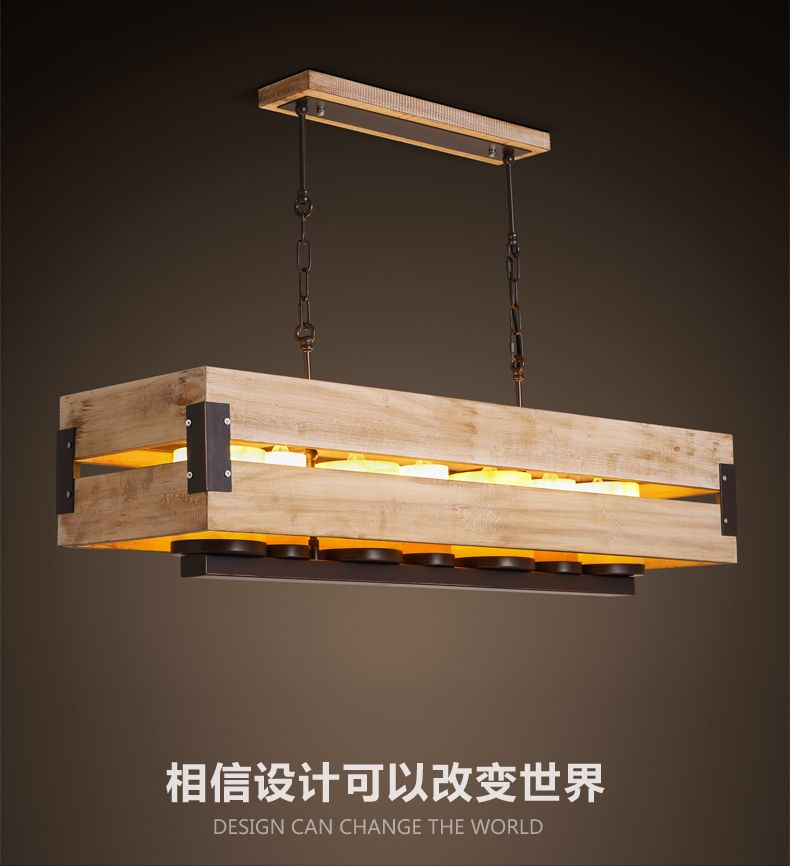 American Countryside Style Creative Vintage Solid Wood Pendant Light Candlestick Parlor Light Cafe Diy Light Fixtures Rustic Light Fixtures Ceiling Lights Diy