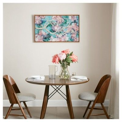 Framed Wall Canvas 42.8 X 2.76 X 26.9, Pink