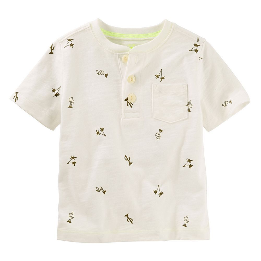 Toddler Boy Oshkosh B Gosh 174 Henley Cactus Print Tee