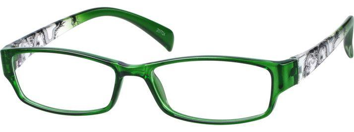 Order online, women green full rim acetate/plastic rectangle ...