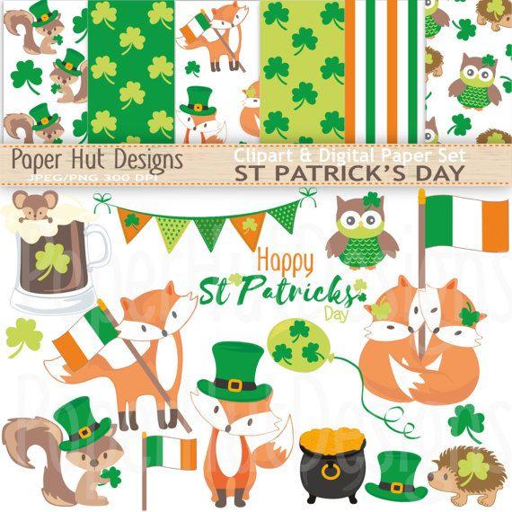 St Patrick S Day Clipart Saint Patricks Day Clip Art And Etsy St Patricks Day Clipart St Patrick S Day Crafts Shamrock Clipart