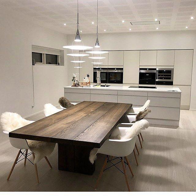 Pin de N Sun en HOME Pinterest Cocinas, Comedores y Casas - Cocinas Integrales Blancas