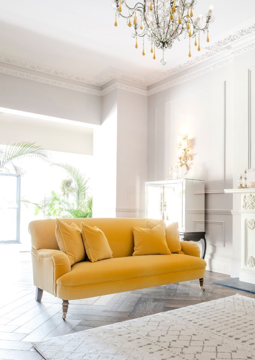 Mellow Yellow Is So On Trend Right Now With Spring Just Around The Corner Visit Our Website To Explore Our Range Of Yellow Fabrics A In 2020 Sofa Sofa Uk Yellow Sofa