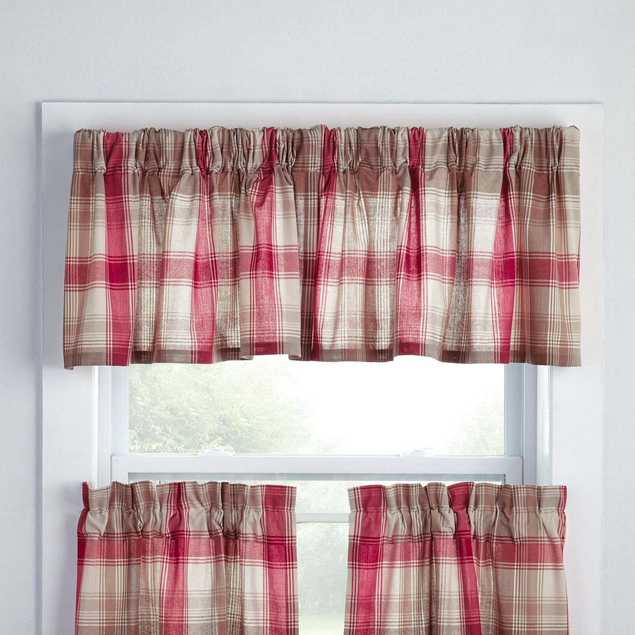Nantucket Duo Top Rod Pocket Back Tab Valance For 14 99